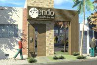 projeto reforma transforma casa antiga em clinica moderna dentista odontologia centro limeira sp fachada reta arquiteto caio