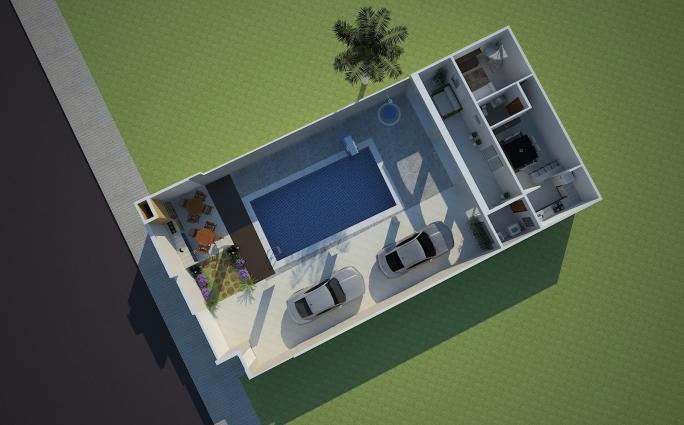 Projetos de casas t rreas em condom nio arquitetura for Piscina 25 metros