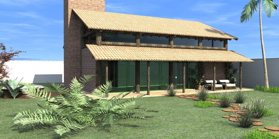projeto casa rustica tijolinho chácara telha clara quiosque eucalipto novo rustico neorustico