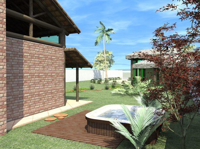 Projeto casa rustica tijolinho ch cara telha clara for Casa rustica classica