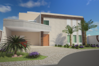 projeto 240 metros planta casa sobrado alto padrão condomínio terreno 20×25 fachada caixote quadrada Limeira