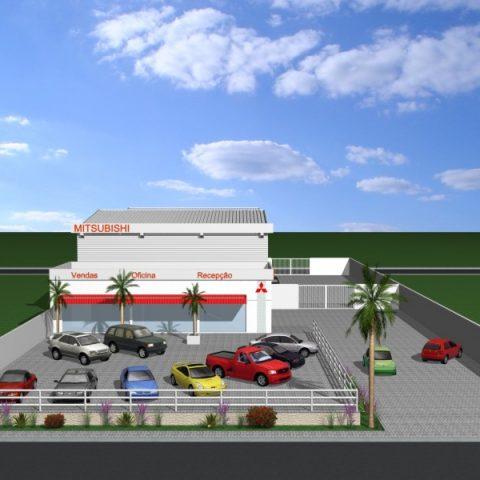 projeto arquitetura corporativa concessionaria loja de carros mitsubishi piracicaba avenida cassio pascoal arquiteto arquiteta
