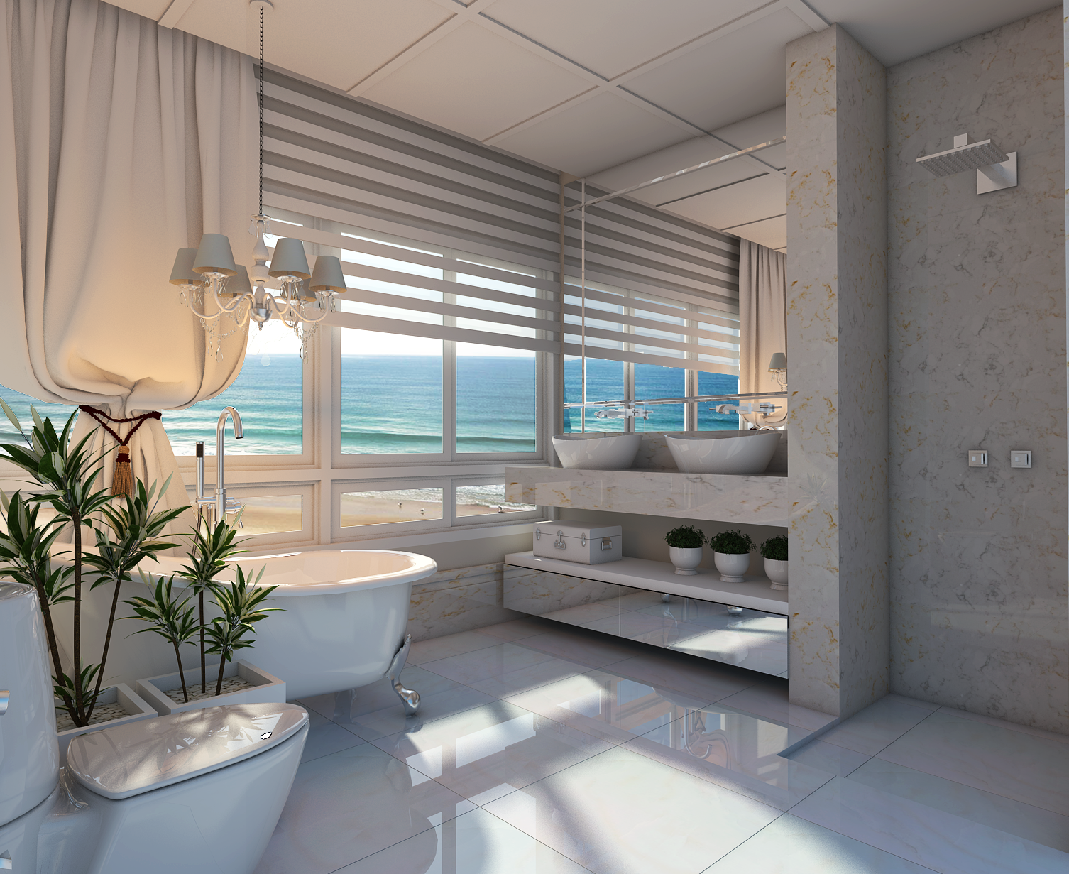 Projeto Design Interiores Apartamento Guarujá Praia Pitangueiras  #8C663F 1506 1231