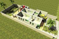 projeto casa sobrado moderno terreno 10×25 lazer integrado com 240 metros condomínio terras sao bento limeira arquiteto arquiteta