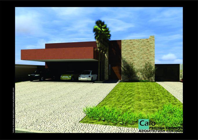 projeto casa térrea 300 metros terreno declive caído fundo 20x40 800 m2 arquitetura modernista contemporânea arquiteto limeira condomínio