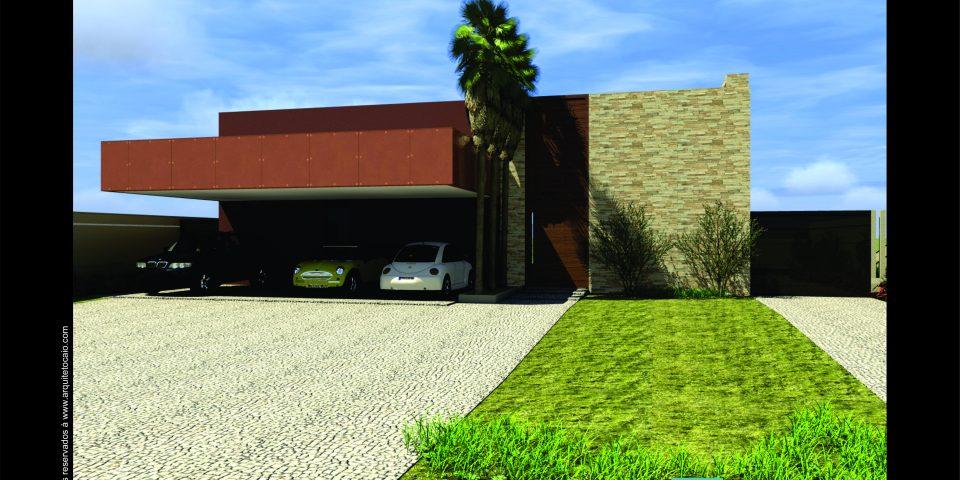 projeto casa térrea 300 metros terreno declive caído fundo 20×40 800 m2 arquitetura modernista contemporânea arquiteto limeira condomínio