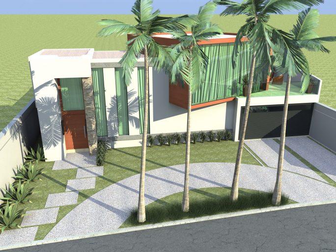 Fachadas de casas modernas t rreas linha reta e telhado for Casa moderna 10 x 20