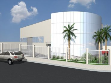 Projetos de Arquitetura Corporativa Galpão Comercial com Pele de Vidro