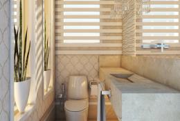 projeto decoração design interiores lavabo clássico neoclássico toque moderno no Guarujá Praia Pitangueiras