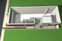 projeto loja galpão comercial fachada moderna terreno 12×30 vidros sobrado 2 pavimentos escritorios