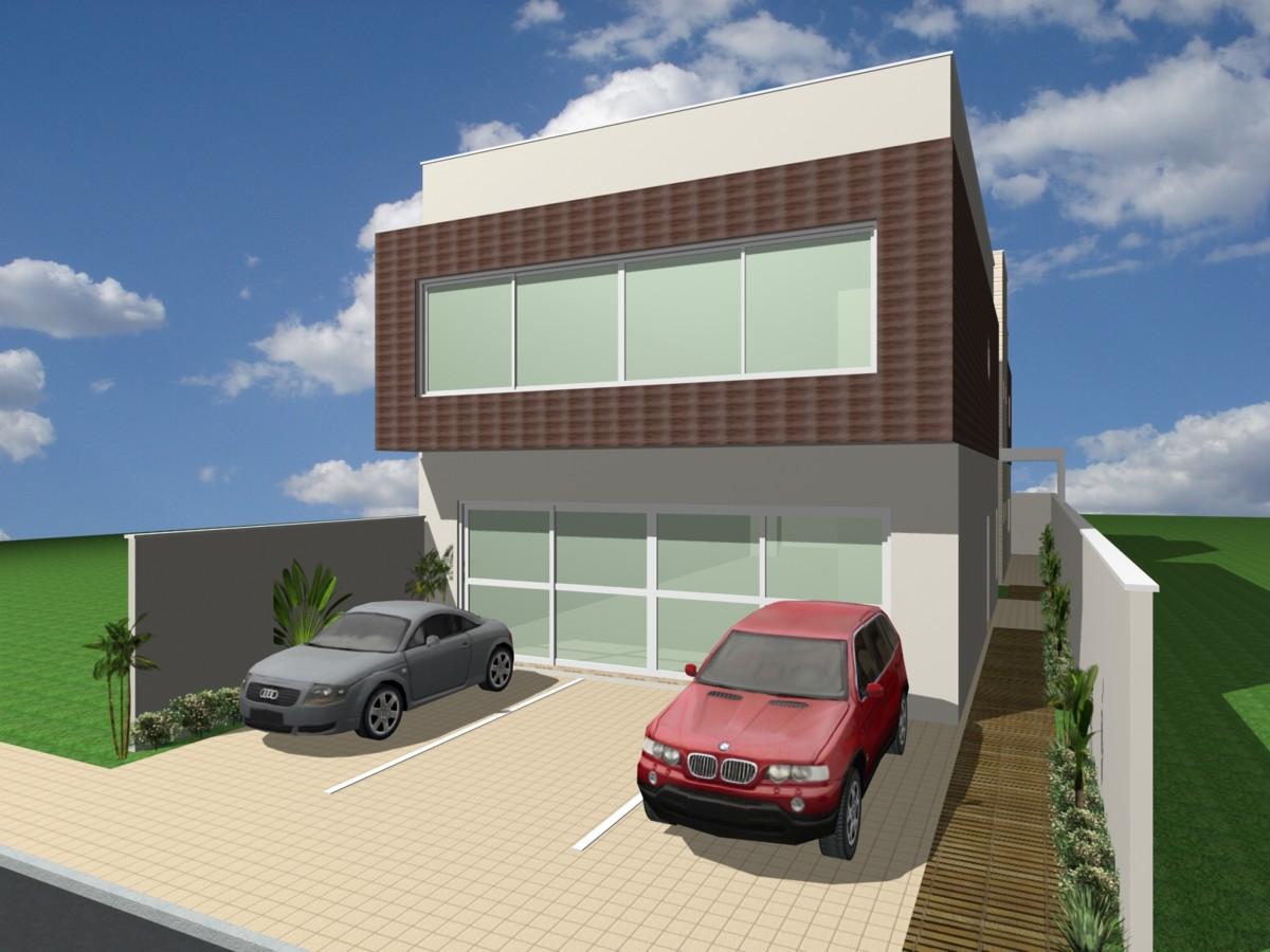 Well-known projeto loja galpão comercial fachada moderna terreno 12x30 vidros  IT32