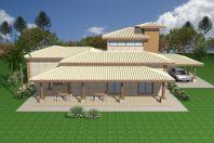 projeto planta casa rustica madeira eucalipto tijolinho