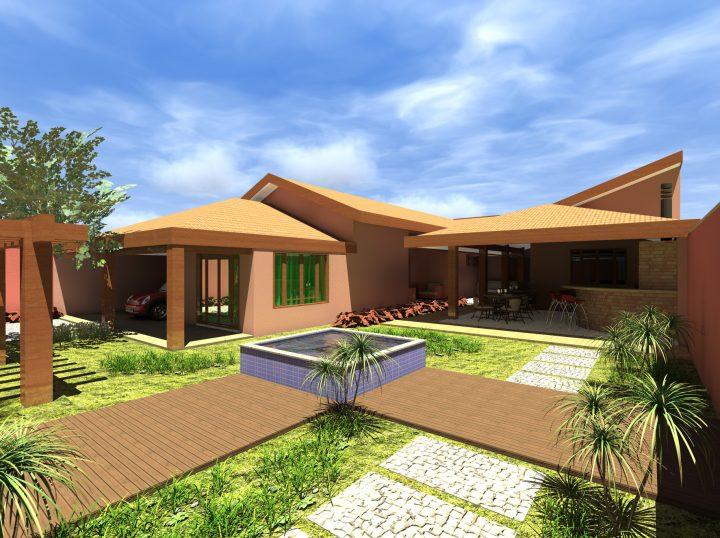 Projeto reforma casa u telhado aparente telha cer mica for Fotos de casas modernas com telhado aparente