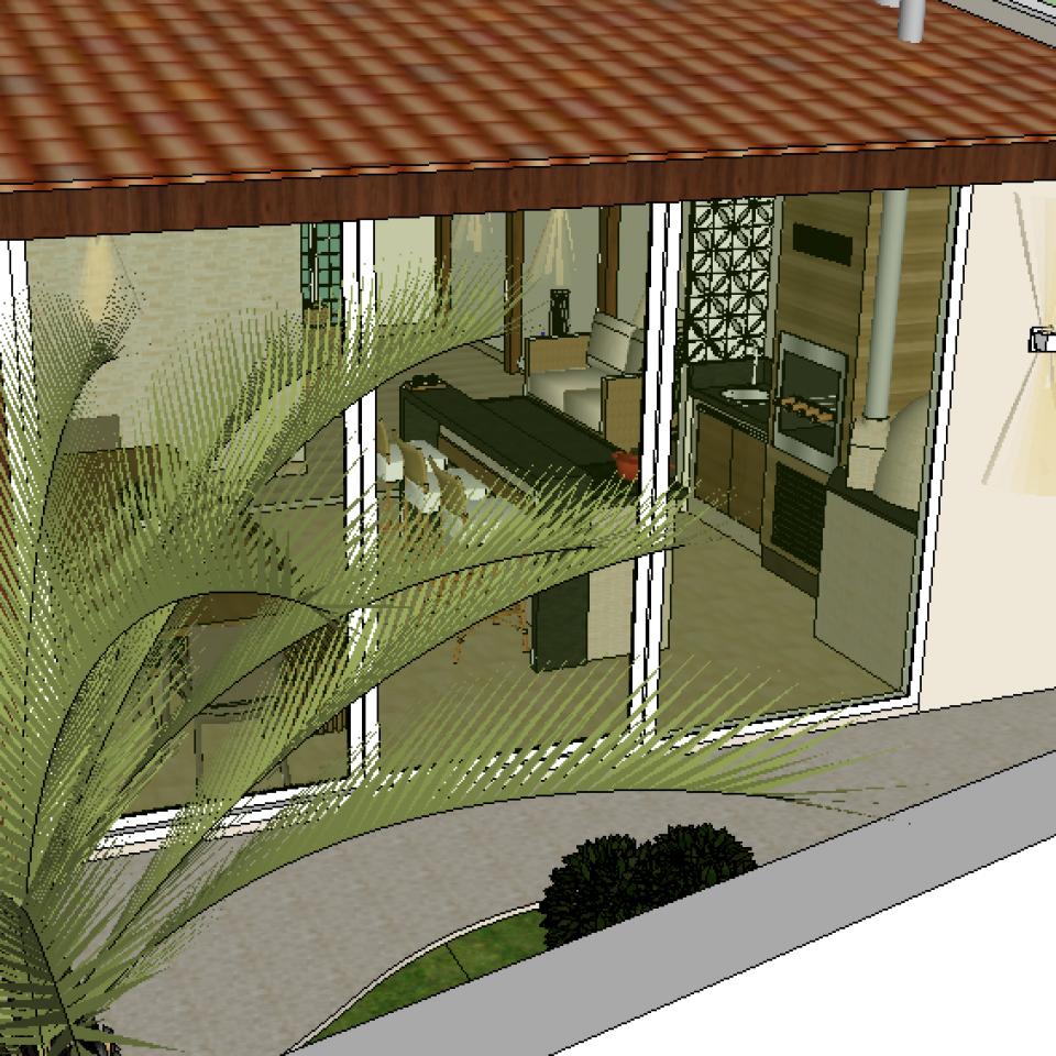 projeto reforma construção área lazer varanda gourmet rustica madeira vidro pequena charmosa arquiteto campinas