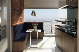 Decoração Design Interiores Ambientes Apartamento Compacto Terrazzo Limeira