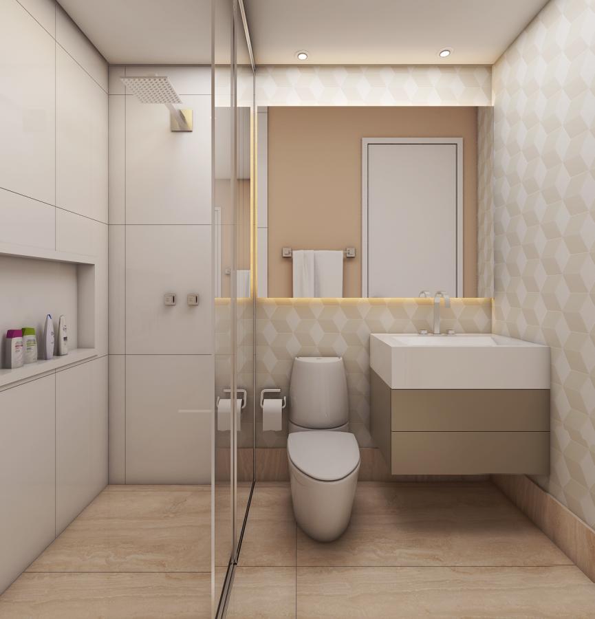 Projeto ambientes interiores apartamento compacto pequeno for Ambientes de interiores