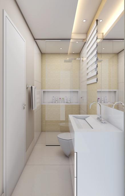 projeto ambientes interiores apartamento compacto pequeno terrazzo limeira arquiteto banheiro