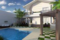 Projeto Casa Clássica Sobrado Terreno Esquina Arquitetura Fachada Neoclássica