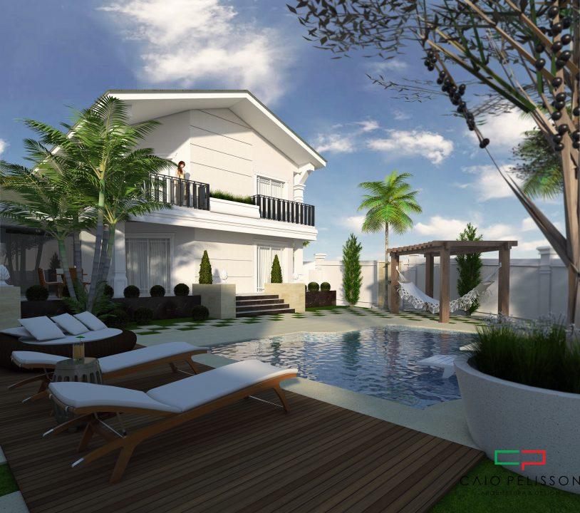 Projeto casa cl ssica sobrado terreno esquina arquitetura for Fachada de la casa clasica