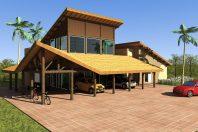 projeto casa rustica chacara madeira eucalipto telhado ceramica diferenciado ousado arquiteto limeira arquiteta campinas piscina organica quiosque