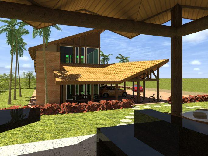 projeto casa rustica chacara madeira eucalipto telhado ceramica diferenciado ousado arquiteto limeira arquiteta campinas
