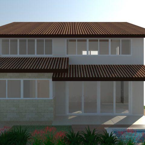 projeto casa térrea 03 suítes mezanino telhado aparente alto inclinado arquiteto campinas