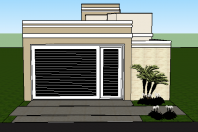 Projeto planta casa t rrea 03 su tes terreno 8x20 for Casa moderna 8x20