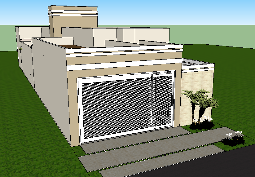 Projeto planta casa t rrea 03 su tes terreno 8x20 for Casas modernas 8x20