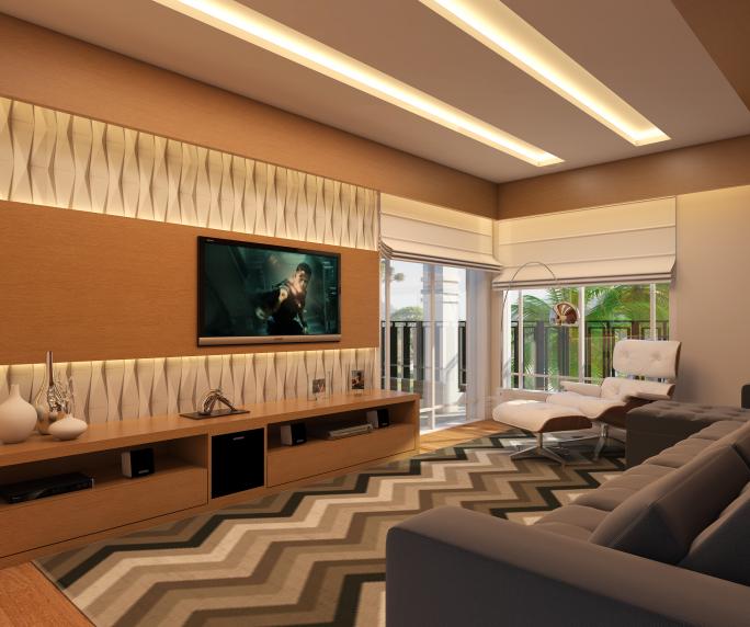 Interior Design Ideas For Home Theater: Projeto De Decoração De Ambientes Interiores De Casa Alto