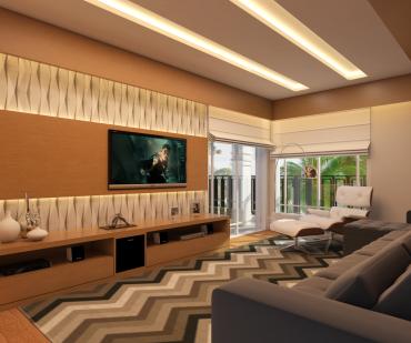 Projeto de Decoração Online transforma casa de 30 anos em uma casa moderna com cozinha integrada e ambientes de bom gosto e sofisticação em um sobrado de alto padrão