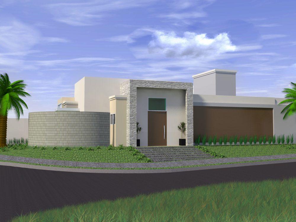 Projetos de casas t rreas em condom nio arquitetura for Casa moderna 80m2