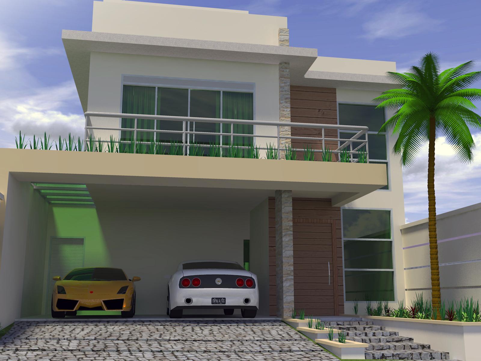Casa de 2 andares sobrado com dois andares visto da for Casa moderna 11