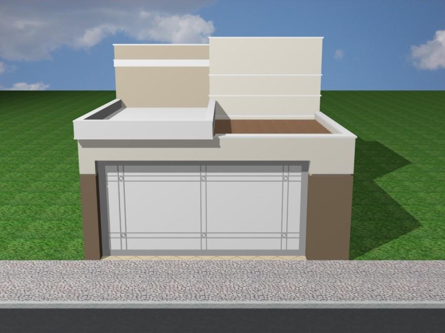 Telhado de casa terrea planta de casa trrea u fachada de for Casas modernas 120m2