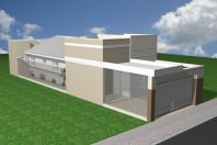 planta casa térrea terreno 5×20 arquitetura moderna telhado embutido