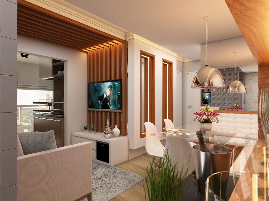 Projeto apartamento terrazzo limeira compacto decora o for Decor interiores