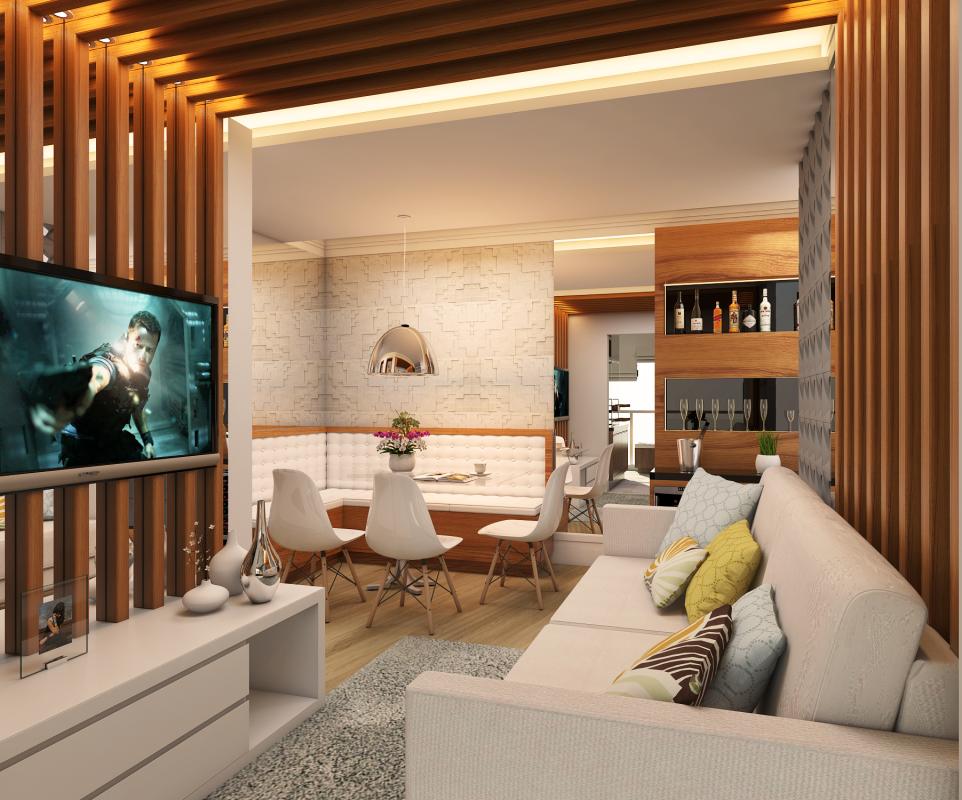 Projetos de ambientes para apartamentos pequenos for Apartamentos de diseno pequenos