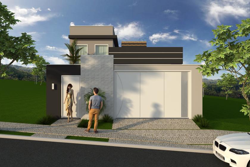 projeto constru o casa t rrea moderna terreno 8x25 125