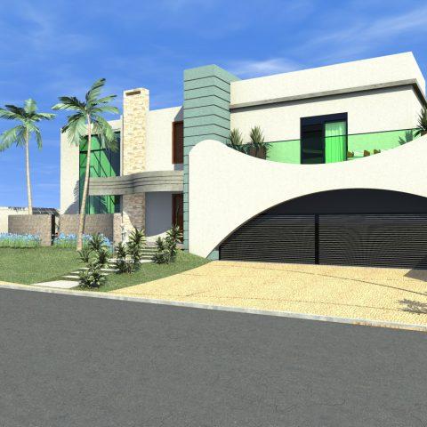 projeto construir mansão arquitetura moderna brasileira reta com curvas casa sobrado 1000 metros alto padrao