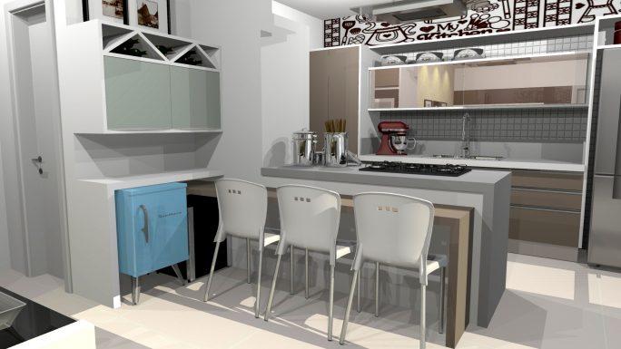 Projetos de ambientes para apartamentos pequenos for Ambientes interiores