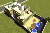 projeto sobrado fachada contemporânea terreno 11×25 condominio terras sao bento limeira quadrado cubo caixote moderna arquiteto