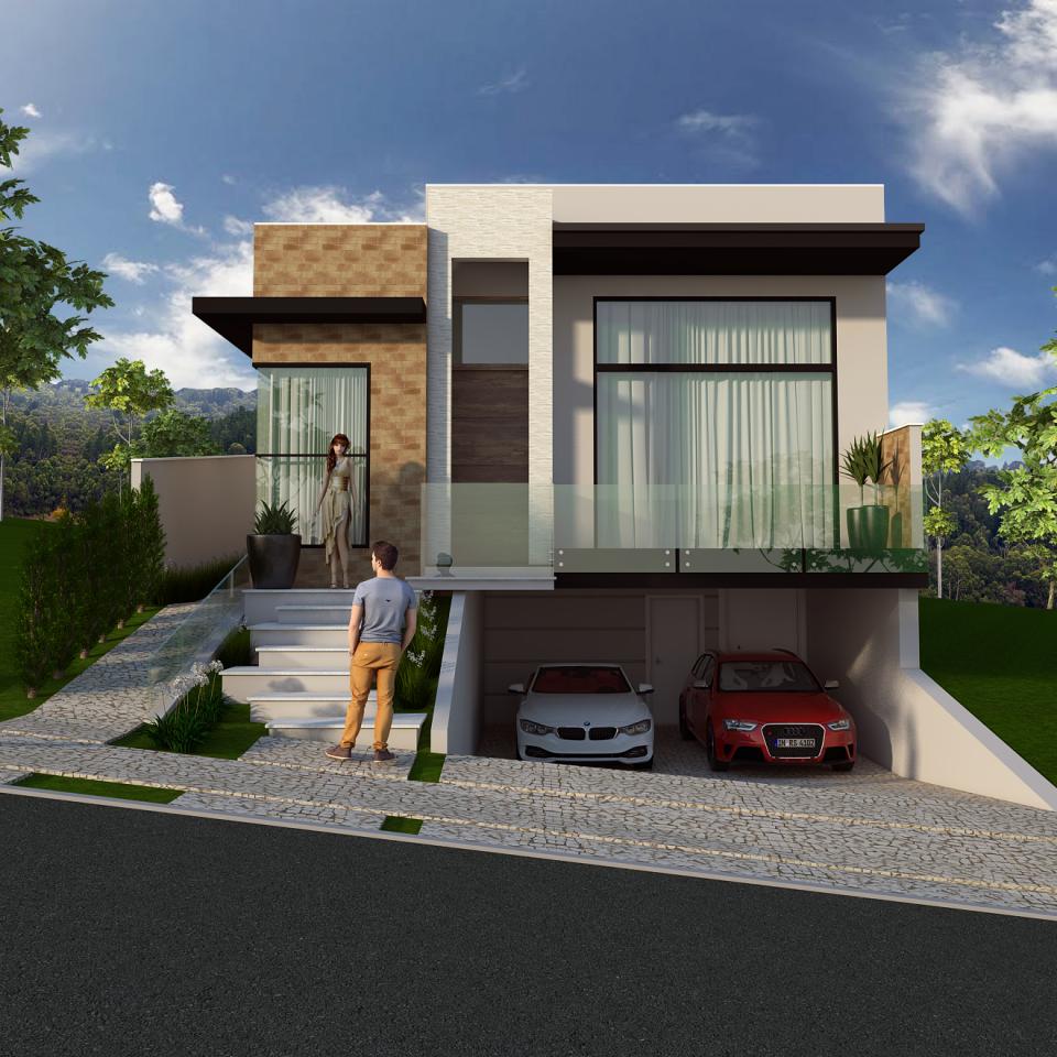 Projetos de casas arquitetura moderna e contempor nea for Fachadas de casas modernas 1 pavimento