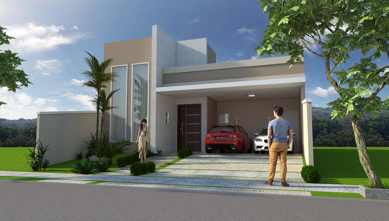 Projeto planta construir casa t rrea moderna terreno 10x25 for Construir casas modernas