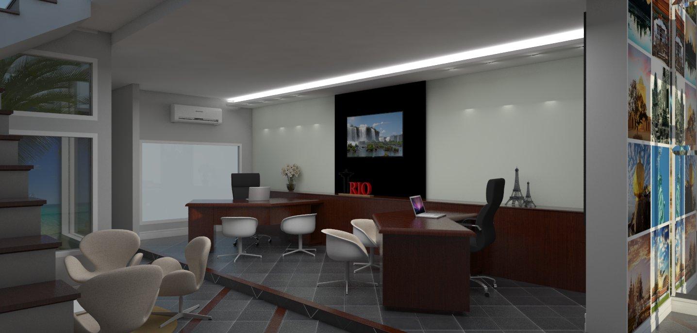 Projeto agencia viagens campinas decora o ambientes for Ambientes interiores