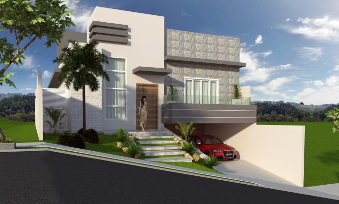 Projetos de Casas com Garagem Subsolo Subterrânea terreno desnível