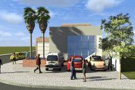 projeto clinica medicina ocupacional exames arquitetura moderna esquina pele de vidro arquiteto caio