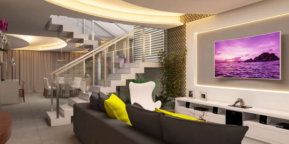 projeto decoração design interiores casa sobrado alto padrão condomínio piracicaba