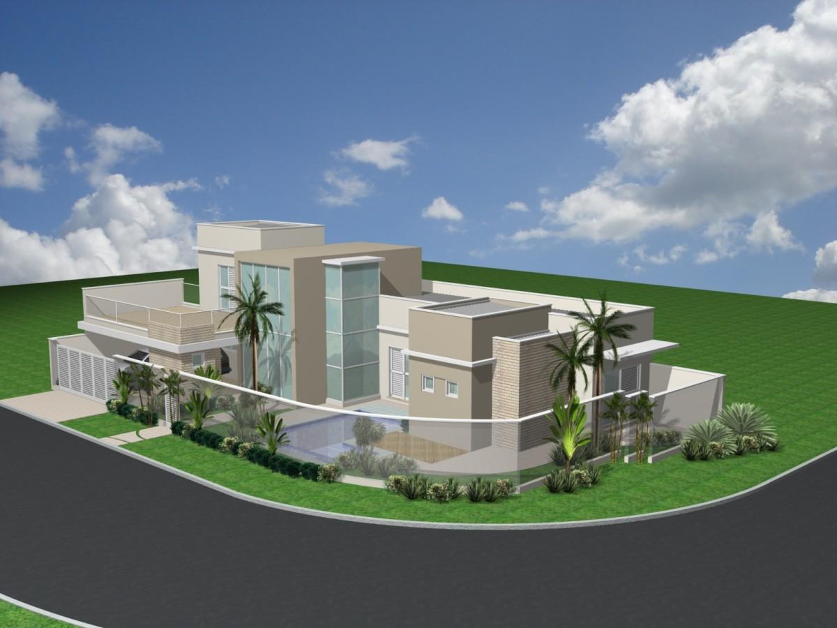 Projeto planta casa esquina 3 su tes lazer piscina for Piscina 4 esquinas