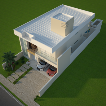 projeto planta casa sobrado moderna terreno 10x25