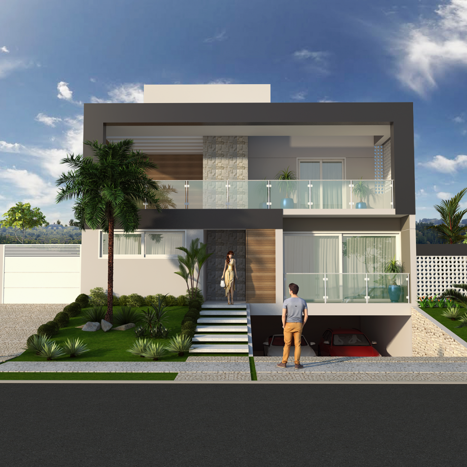 Projetos de casas arquitetura moderna e contempor nea for Design moderno casa contemporanea con planimetria