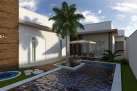 projeto planta casa térrea moderna contemporânea 160 metros terreno 12×28 condominio limeira